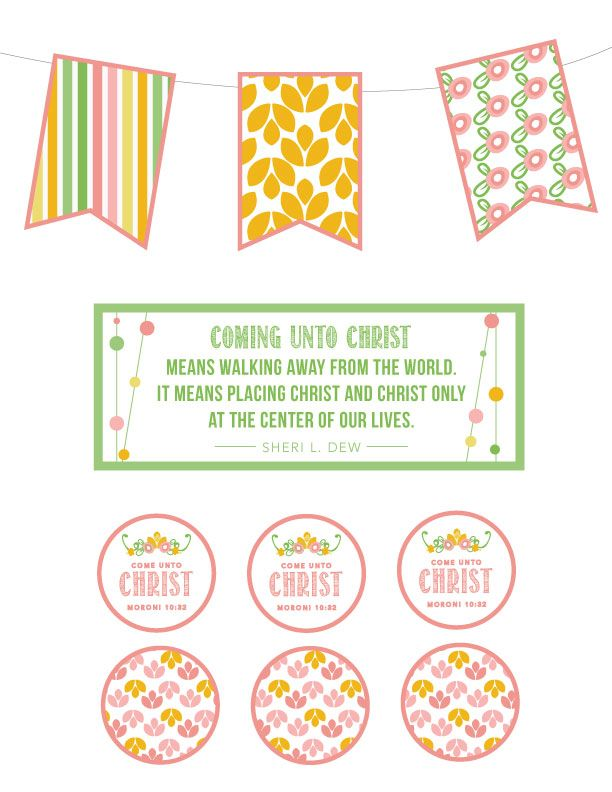 """YW 2014 Theme Kit: """"Come Unto Christ"""" Great ideas to use for New Beginnings, Evening in Excellence, birthdays, binders, and more! - My Own Brand Of Happy"""