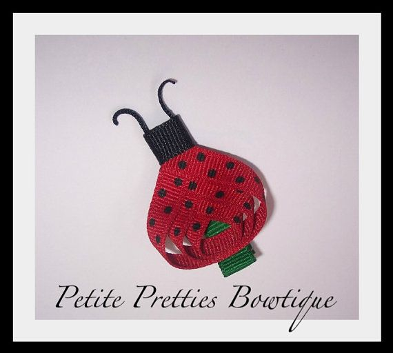 Boutique Ladybug Hair Clip by petitepretties on Etsy, $3.00