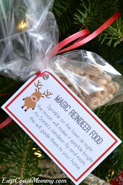 FREE printable magic reindeer tags... and instructions for making magic reindeer food. Super-cute! #magicreindeerfood #freeprintable #christmas #reindeer #reindeerfoodrecipe