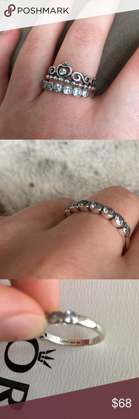 0dafa6517 Pandora Ring Alluring Cushion BRAND NEW w/ BOX AND SHOPPING BAG Authentic,  photos show details & signature markings but if you'd like more pics let me  know, ...