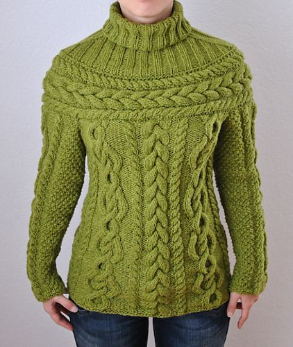 Ravelry 02 Cable Sweater With Round Yoke Pattern By Rebecca