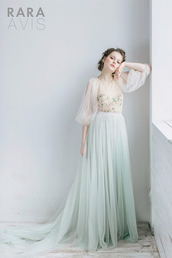 Wedding dress LEYA, fairy wedding dress, vintage style wedding ...