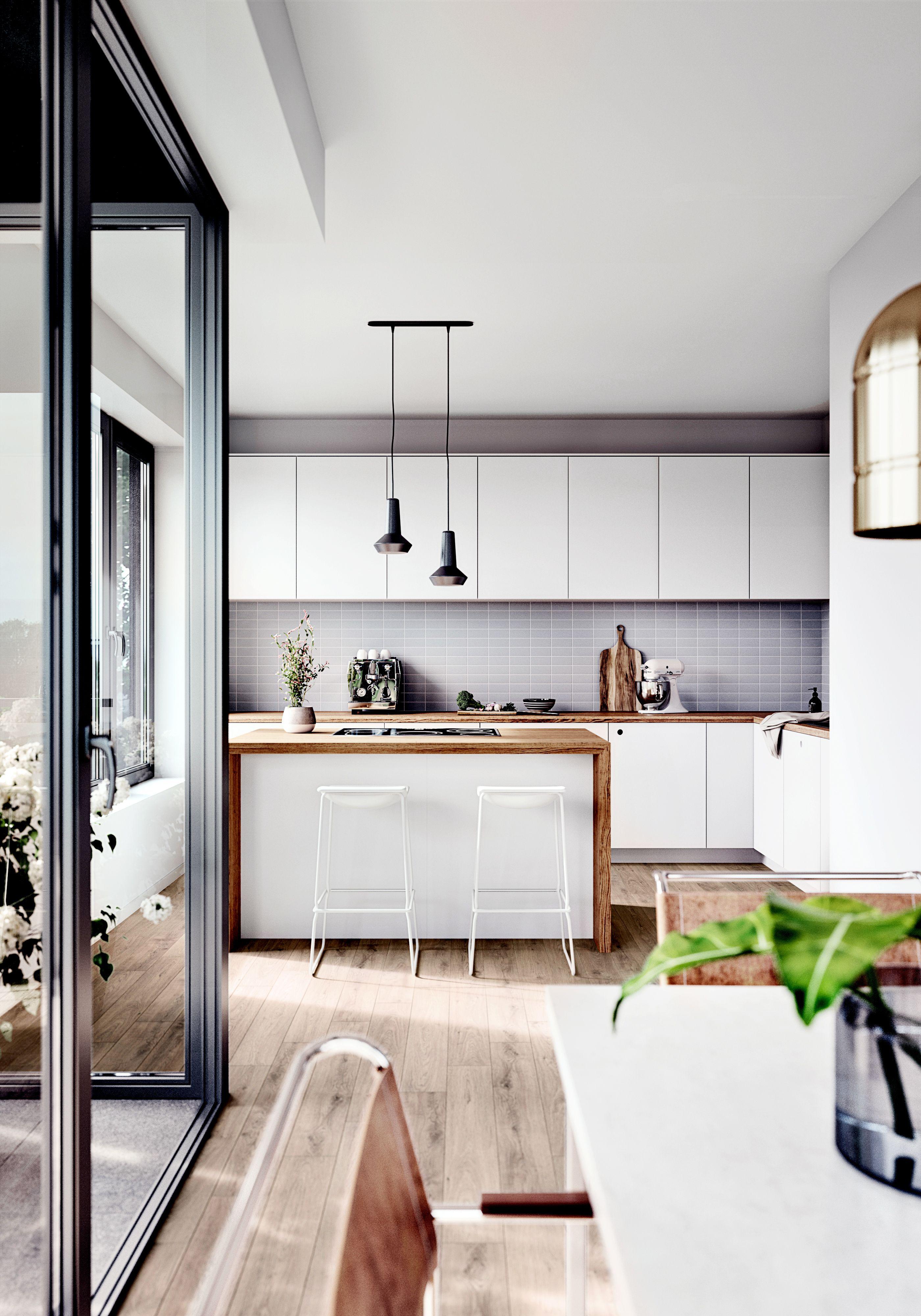Moderne Und Offene Wohnkuche Im Neubauprojekt Oasis Berlin In