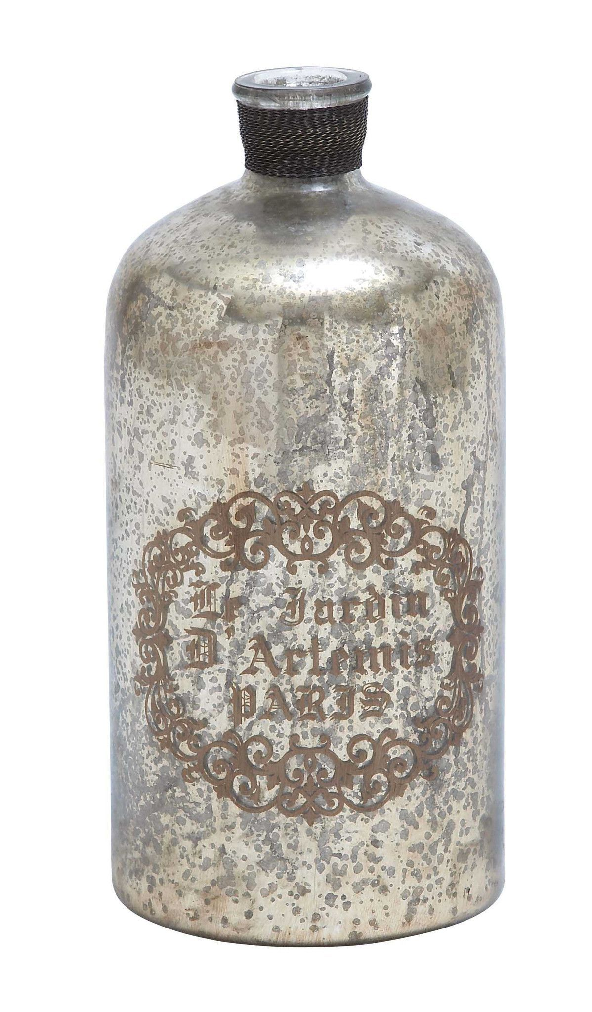 Unique And Attractive Glass Bottle With Protective Layer Glass