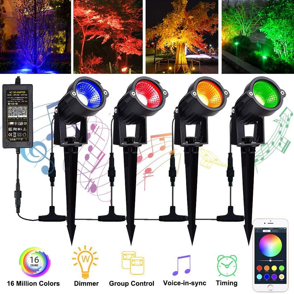 Color changing led landscape lights 12w landscape lighting