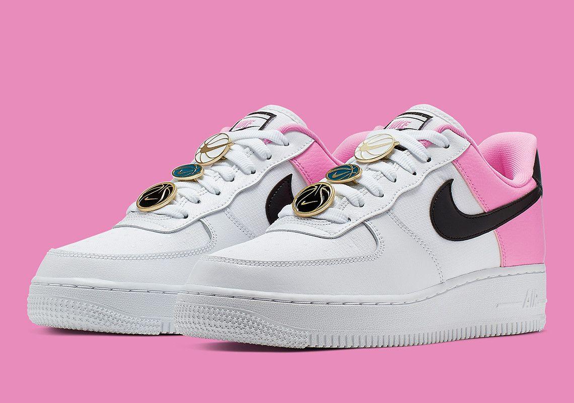 Nike Air Force 1 White Pink Black AA0287 107 Store List
