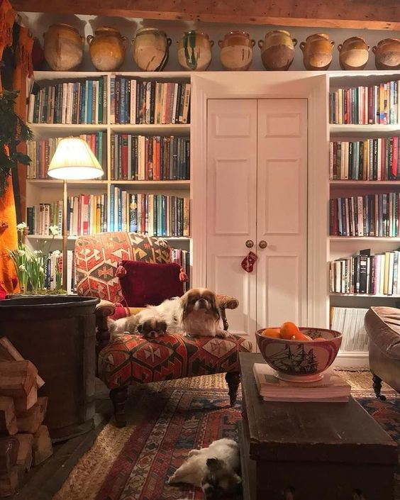 Cottage Home Library: 21 Top English Country Home Décor For Casual And Formal