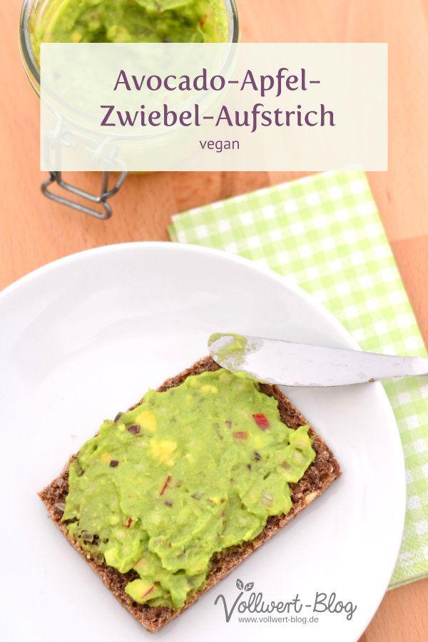 Avocado-Apfel-Zwiebel-Aufstrich (vegan) Veganer Avocado-Apfel-Zwiebel-Aufstrich