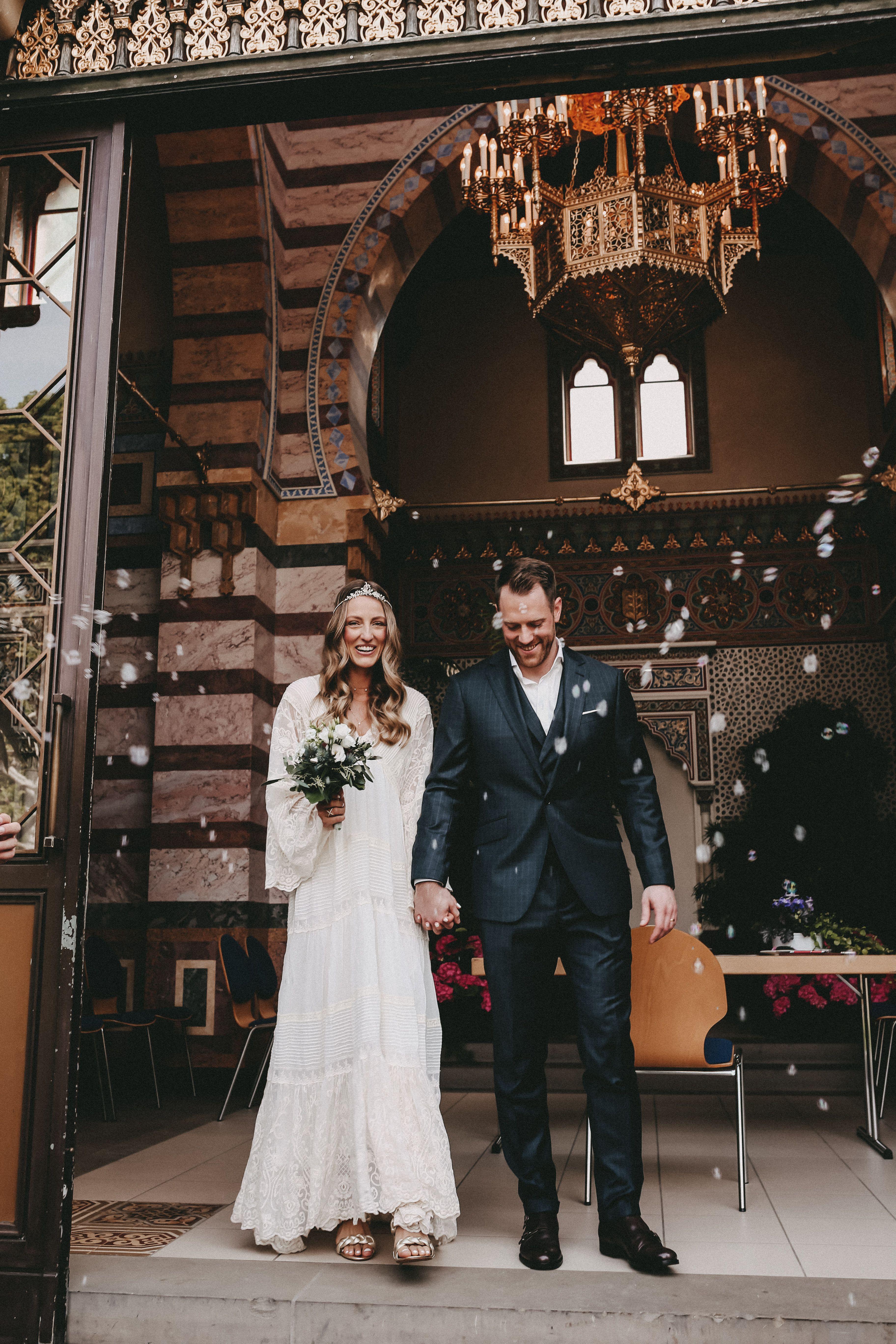 Wedding Wilhelma Civil Wedding Standesamt Stuttgart Boho