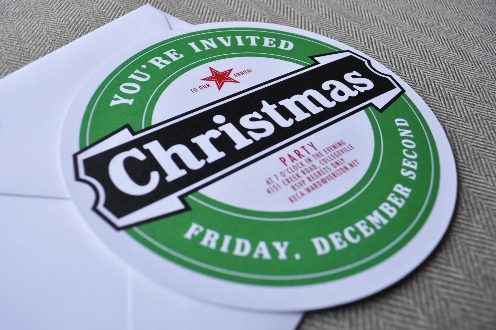 Custom Christmas Party Invitations | CKV Party | Pinterest ...