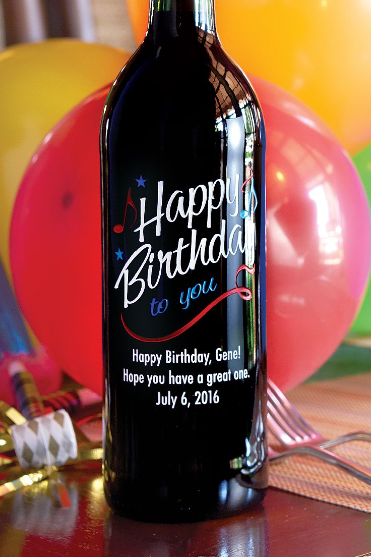 Great Birthday Gift Idea A One Of A Kind Custom Etched Bottle Of