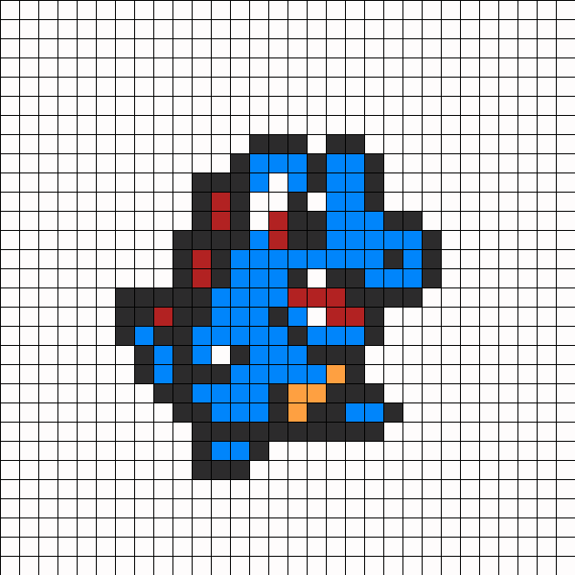 Totodile Perler Bead Pattern Perler Fuse Bead Designs Pokemon