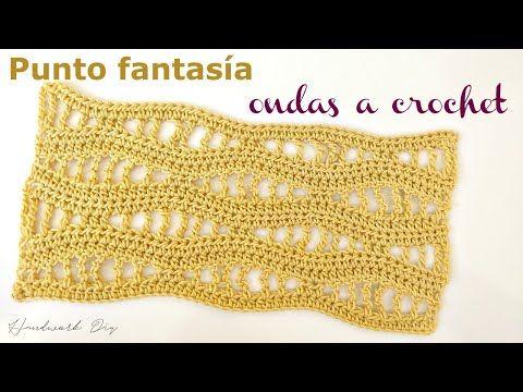 Punto Fantasía Crochet Ondas Handwork Diy Youtube Puntadas De Ganchillo Tunecino Tutorial De Tejido A Ganchillo Terminaciones Crochet