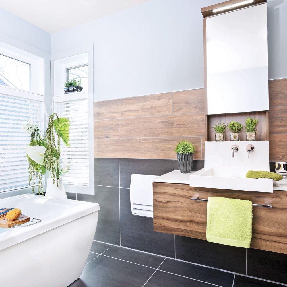 Chaleur masculine dans la salle de bain salle de bain avant après décoration