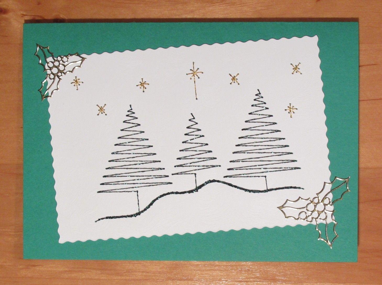 16x Neutrale Kerstdecoraties : Pin van anna pilarska op my stiching cards pinterest stichting