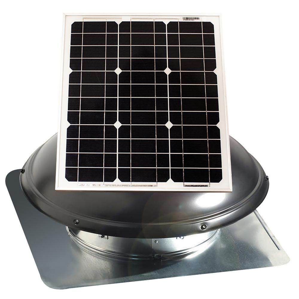U S Sunlight Corp 1820 Cfm 25 Watt Solar Powered Attic Fan Black In 2020 Solar Attic Fan Solar Powered Attic Fan Attic Fan