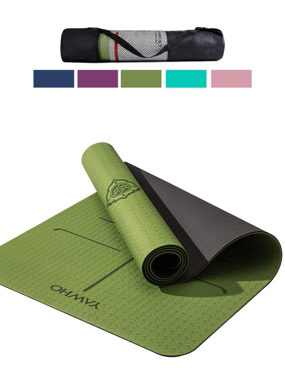 Yawho Tapis De Yoga Tapis Fitness Tapis D Exercice Matieres De Tpe Dimension 183cmx66cm Epais De 6 M