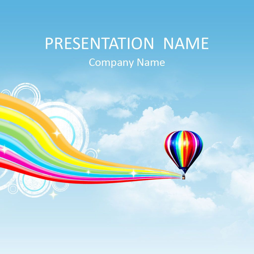 Hot air balloon powerpoint template jyouts pinterest hot colorful powerpoint template with hot air balloon flying above the clouds use this theme for presentations on air balloon flying summer entertainment toneelgroepblik Images