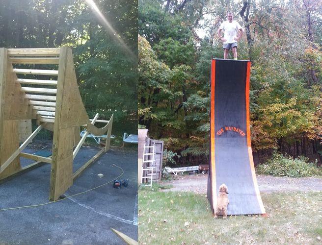 Finished Warped Wall   Ninja warrior course, Ninja warrior ...