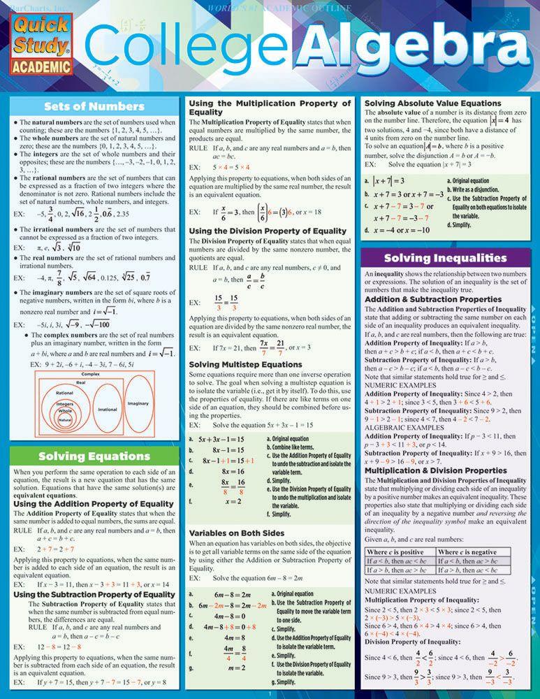 College Algebra  Math  Math Algebra College Math College Algebra College Math College School Online College Education  College School Tips