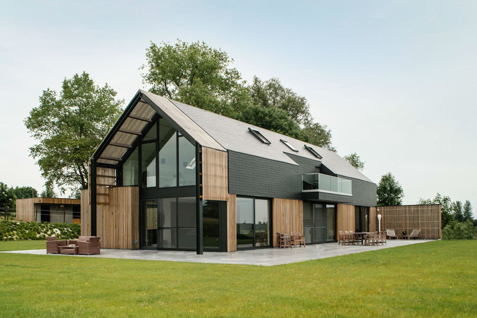 Old belgian barn is transformed into a gorgeous for Modern contemporary house plans for sale