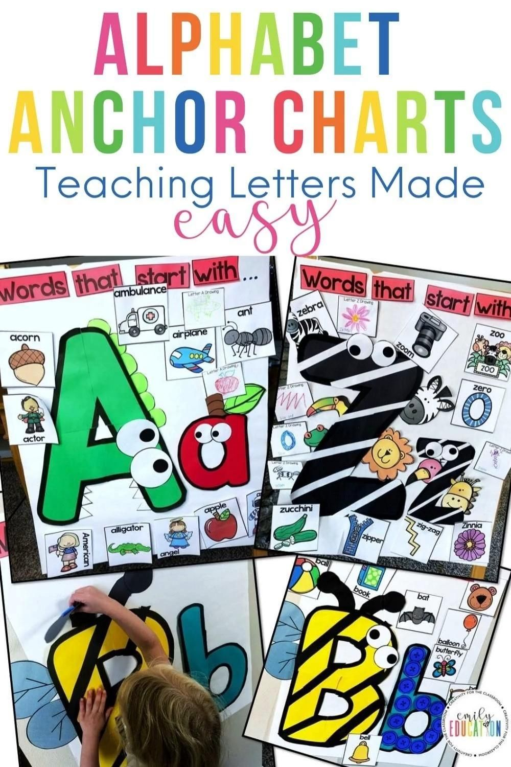 Interactive Alphabet Anchor Chart Bundle