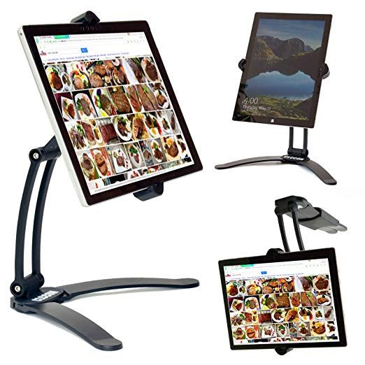 tablet ipad holderstand adjustable mount kitchen cabinet