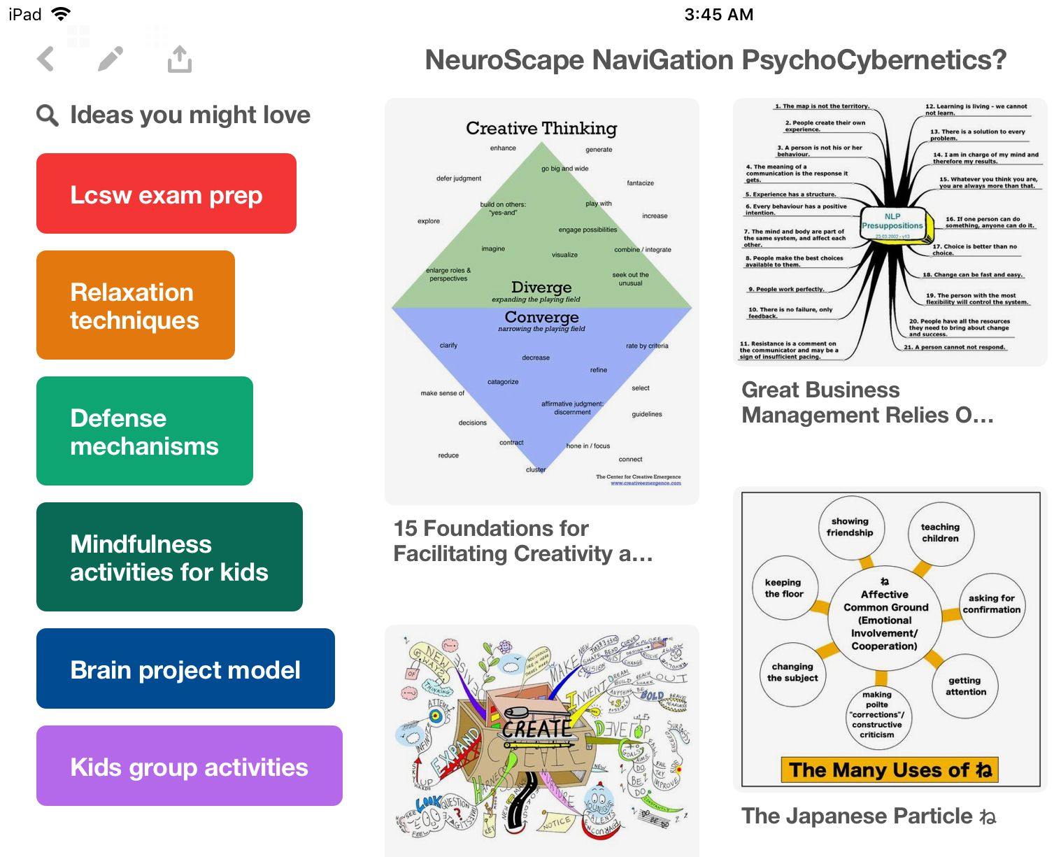 Neuroscape Navigation Chart Locker