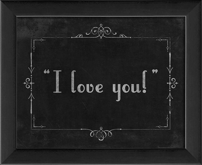 Silent Movie I love you! by The Artwork Factory