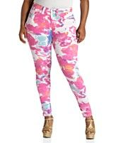 Print Jeggings,   Sizes 14-24W with white shirt and brown boots
