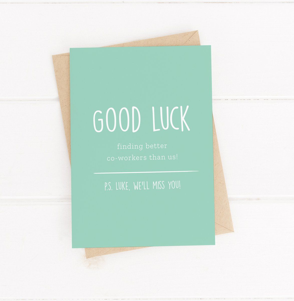 Say farewell in style with our personalised Goodbye card