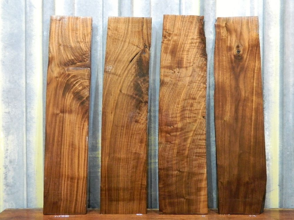 4 Wood Project Pack Furniture Cabinetry Figured Walnut Lumber Boards 5903