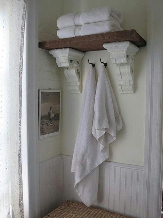 Gorgeous Rustic Bathroom Decor Ideas To Try At Home Rustic - White bathroom shelf with hooks for bathroom decor ideas