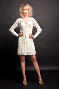 roupas de croche vestido curto branco