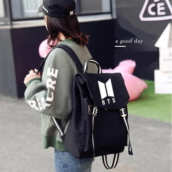 New Kpop Bts Bt21 Bangtan Boys Group The Same Canvas Students Bag Fash Geekbuyig Bts Bag Student Bag Laptop Travel Bag
