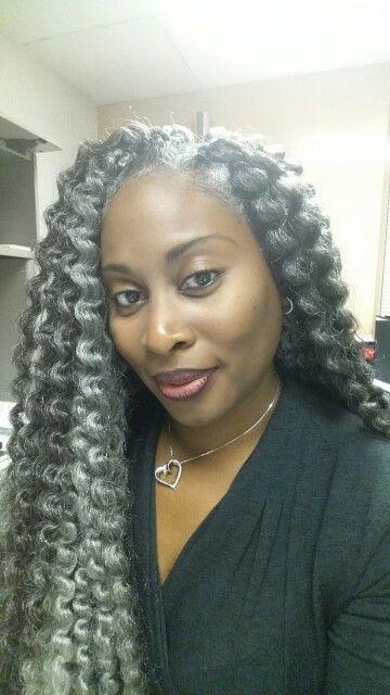 Mambo Twist Unraveled Grey Hair Wig Natural Hair Styles Womens Hairstyles