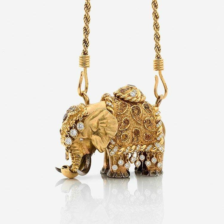 Pin On Elephants In Jewelry
