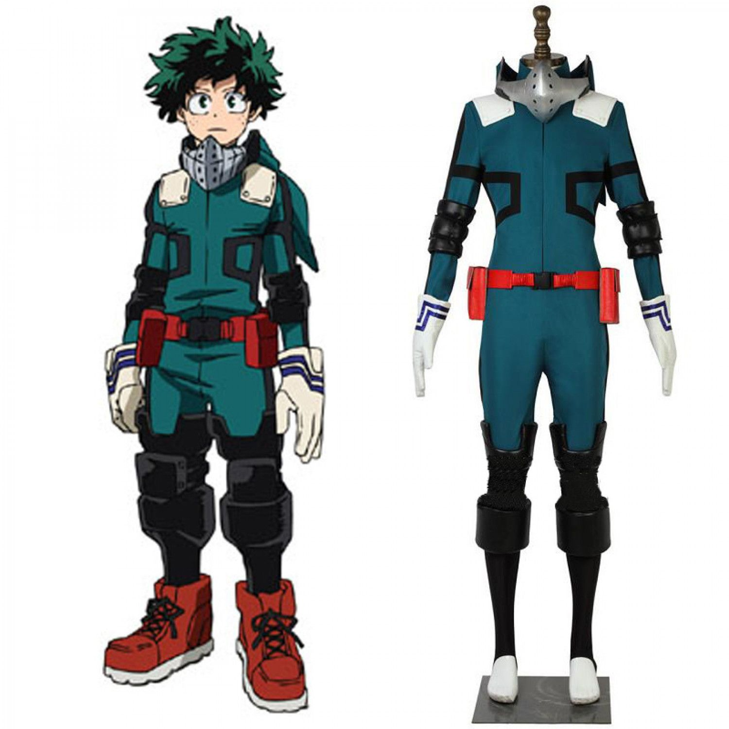 My Hero Academia Deku Izuku Midoriya Fighting Outfit Cosplay Costume Custom Made