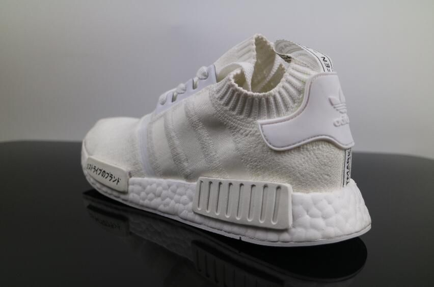 756b5290f Authentic Adidas NMD R1 PK All White Japanese Real Boost Women and Men  Walking Shoes for Online