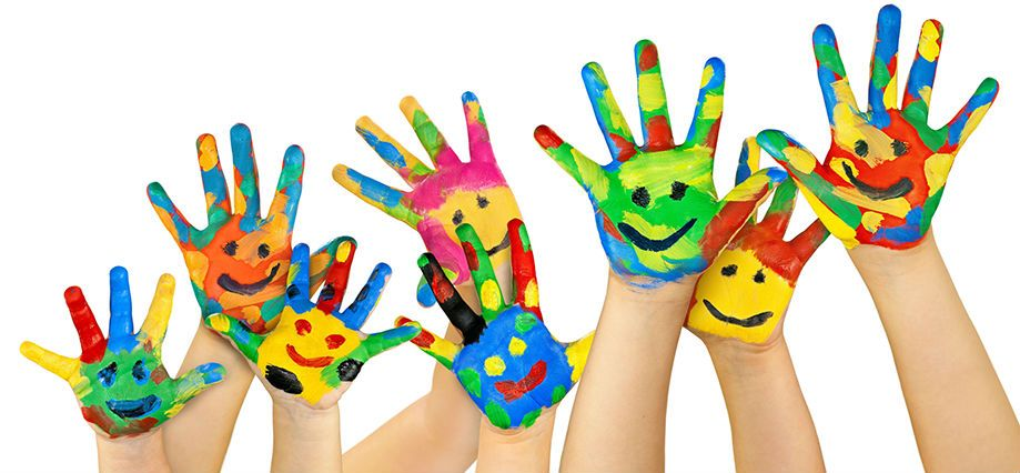 Image result for painted children hands