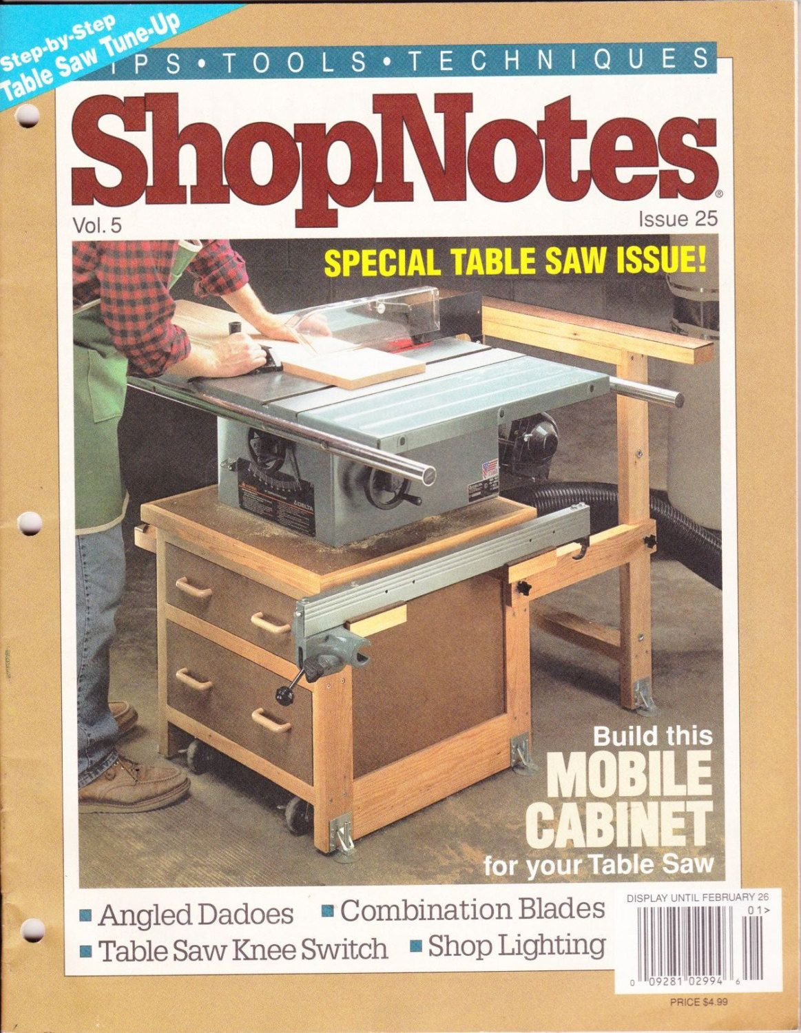 vintage shopnotes magazine january 1996 no 25 wood crafting