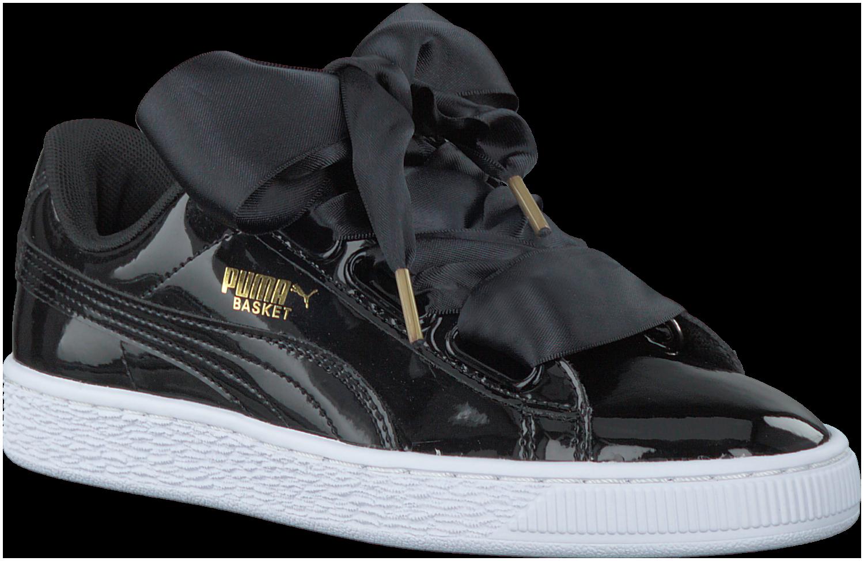 Zwarte PUMA Sneakers BASKET HEART PATENT - Omoda | Sneaker ...