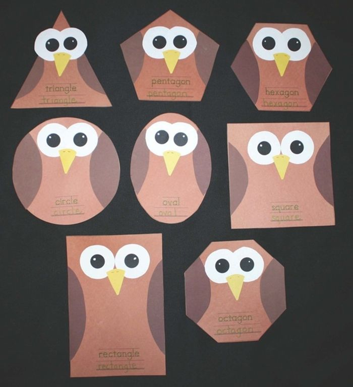 Owl Craft Ideas For Kids Part - 47: Activities For Teaching 2D Shapes - Silly Shape Owl Craft