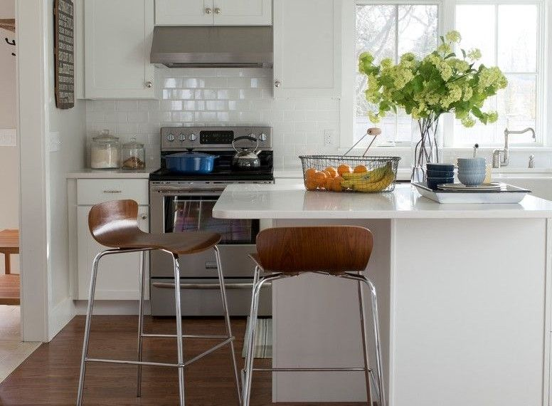 Pedal Stool Sink Beach Style Kitchen With White Slipcover Dining