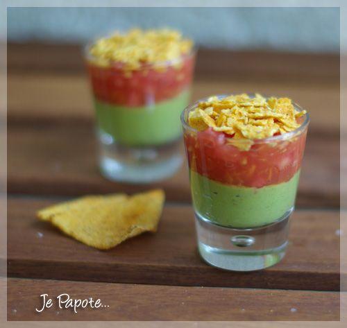Verrine Mexicaine (guacamole & tomate) | Je Papote