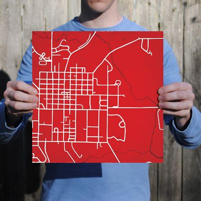 Miami University Ohio City Prints Map Art Campuses Map Prints