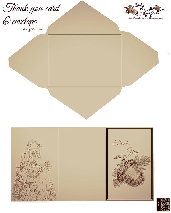 thank you card envelopes
