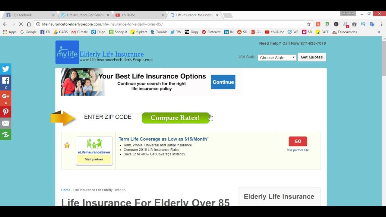 Senior Life Insurance Quote Cheapest Life Insurance  Finance Advice  Pinterest