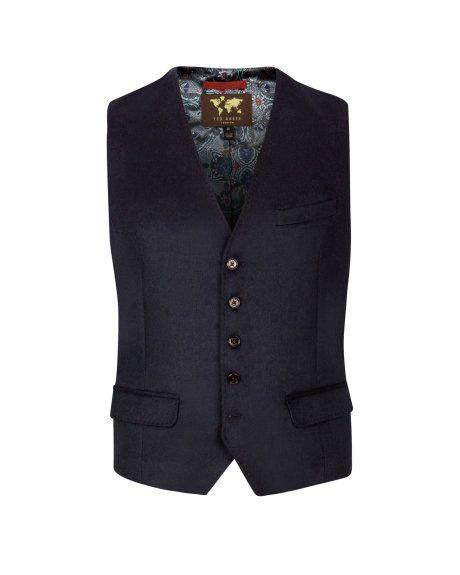 b1aaba768074 Refined suit waistcoat - Navy
