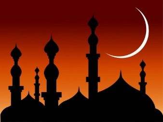 Palacio Arabe Mosque Silhouette Mosque Abstract Backgrounds